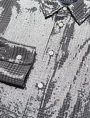 Polo Ralph Lauren - SQ PRNTD POLY GGT-LSL-SHT - long-sleeved shirts - grey/black glen p - 4