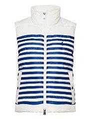 Belmont Striped Down-Filled Vest - WHITE/BLUE STRIPE