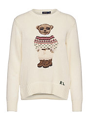 Polo Bear Crewneck Sweater - CREAM MULTI