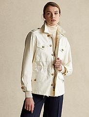 Polo Ralph Lauren - Surplus Cotton Twill Jacket - lette jakker - clubhouse cream - 0