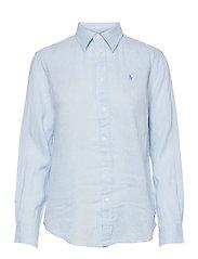Relaxed Fit Linen Shirt - BERYL BLUE