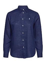 Relaxed Fit Linen Shirt - NAVY