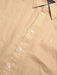 Polo Ralph Lauren - Relaxed Fit Linen Shirt - langærmede skjorter - polo tan - 2
