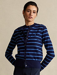 Polo Ralph Lauren - PIMA JSY STRETCH-LSL-SWT - cardigans - blue multi - 0