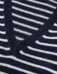 Polo Ralph Lauren - Striped Linen Sweater - jumpers - hunter navy/bone - 2