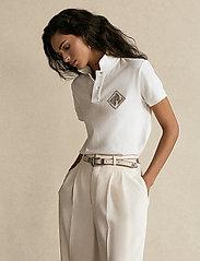 Polo Ralph Lauren - Beaded-Logo Polo Shirt - polohemden - deckwash white - 0