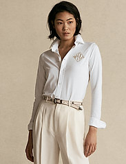 Polo Ralph Lauren - Monogram Oxford Shirt - bluser & skjorter - white - 0