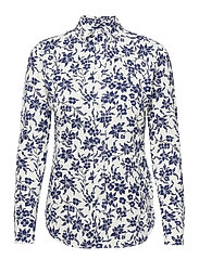 Floral Cotton Button-Down Shirt - 883 NAVY/CREAM FL