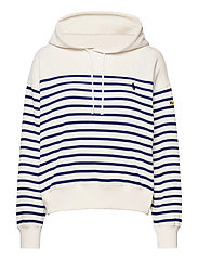 Striped Fleece Hoodie - DECKWASH WHITE