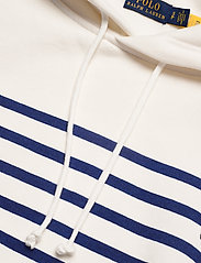 Polo Ralph Lauren - Striped Fleece Hoodie - hættetrøjer - deckwash white - 2