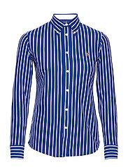 Striped Cotton Button-Down Shirt - ACTIVE ROYAL/WHIT