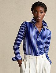 Polo Ralph Lauren - Striped Cotton Button-Down Shirt - langærmede skjorter - active royal/whit - 0