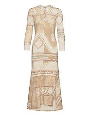 Southwestern Henley Dress - BCN PRINT