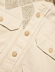 Polo Ralph Lauren - Beaded Cotton Twill Shirt - langærmede skjorter - english cream - 3