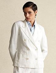 Polo Ralph Lauren - Double-Breasted Linen Blazer - dobbeltradede blazere - nevis - 0