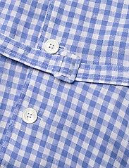 Polo Ralph Lauren - Gingham Linen Shirtdress - sommerkjoler - 918 medium blue/ - 3