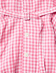 Polo Ralph Lauren - Gingham Linen Shirtdress - sommerkjoler - 918 ribbon pink/w - 3