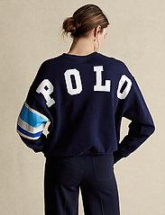 Polo Ralph Lauren - Striped-Trim Fleece Sweatshirt - sweatshirts - cruise navy - 0