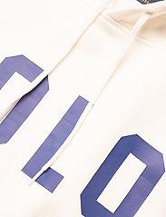 Polo Ralph Lauren - Striped-Trim Fleece Hoodie - hættetrøjer - white - 3