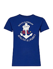 Anchor Graphic Cotton Tee - HERITAGE ROYAL