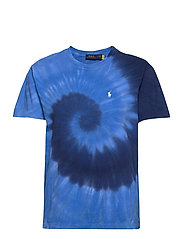 Big Fit Tie-Dye Tee - BLUE OCEAN SPIRAL