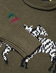 Polo Ralph Lauren - LS ZBR CN PO-CLASSIC-LONG SLEEVE-SWEATER - jumpers - olive multi - 2