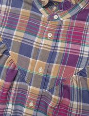 Polo Ralph Lauren - Ruffle-Trim Plaid Shirt - long-sleeved shirts - 825 blue/magenta - 2