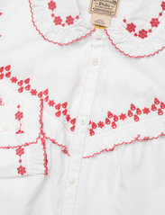 Polo Ralph Lauren - Ruffle-Trim Embroidered Cotton Shirt - long-sleeved shirts - white - 2