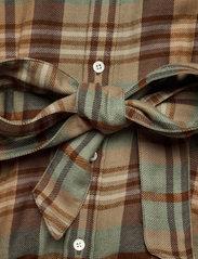 Polo Ralph Lauren - Plaid Wool Shirtdress - shirt dresses - 957 brown tan mul - 3