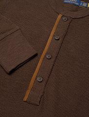 Polo Ralph Lauren - Cotton Henley Long-Sleeve Dress - bodycon dresses - dark beech - 2