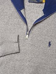 Polo Ralph Lauren - Logo Quarter-Zip Fleece Pullover - sweatshirts - dark vintage heat - 2