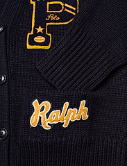 Polo Ralph Lauren - Patchwork Wool V-Neck Cardigan - cardigans - navy multi - 3