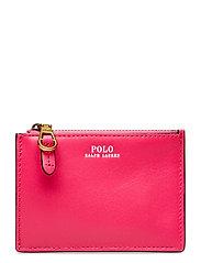 Nappa Leather Zip Card Case - PEONY