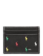 Leather Pony Card Case - BLACK MULTI