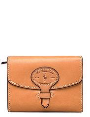 Tartan Wool Compact Wallet - NATURAL