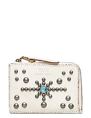 STUDDED DS LTHR-ZIP CC-CCS-SMA - CREAM