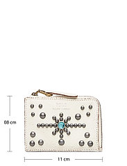 Polo Ralph Lauren - STUDDED DS LTHR-ZIP CC-CCS-SMA - card holders - cream - 5