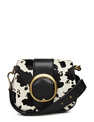BELT SADDLE-CROSSBODY-MEDIUM - BLACK MULTI