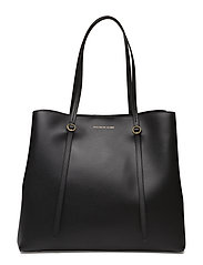 Leather Lennox Tote - BLACK