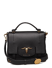 Leather Small Schooly Bag - BLACK