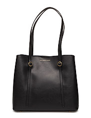 Leather Mini Lennox Tote - BLACK