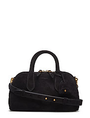 SUEDE/LEATHER-MD SUL STCHL-STL-MED - BLACK