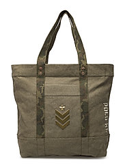 CNVS METAL MTLRY PQ-LG PP TOTE-TTE- - OLIVE