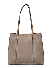 SUEDE-SM LNX TOTE-TTE-LRG - TAUPE