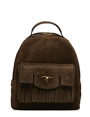 Steer-Head Suede Backpack - OLIVE