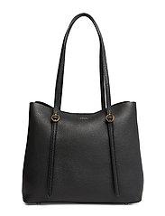 Pebbled Leather Lennox Tote - BLACK