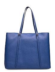 Leather Large Lennox Tote - ROYAL BLUE