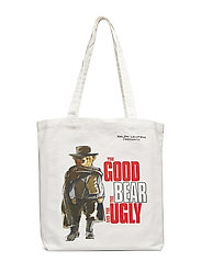 CANVAS GOOD BEAR-BOOK TOTE-TTE-MED - ECRU
