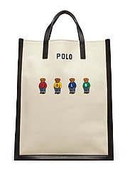 BEAR CANVAS-SHOPPER TOTE-TTE-LRG