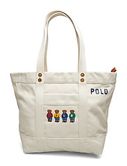 BEAR CANVAS-PP TOTE-TTE-MED